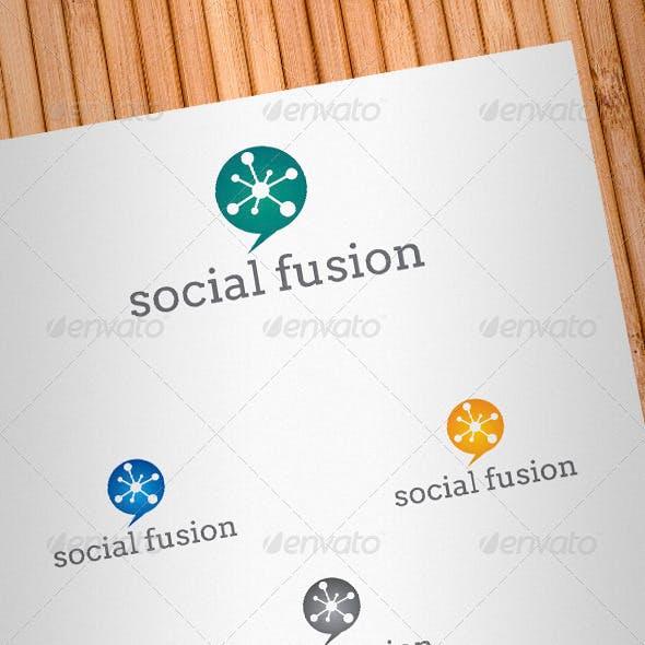 Social Fusion Logo Template