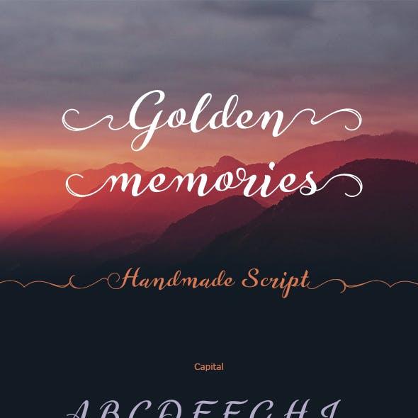 Golden Memories Script Font