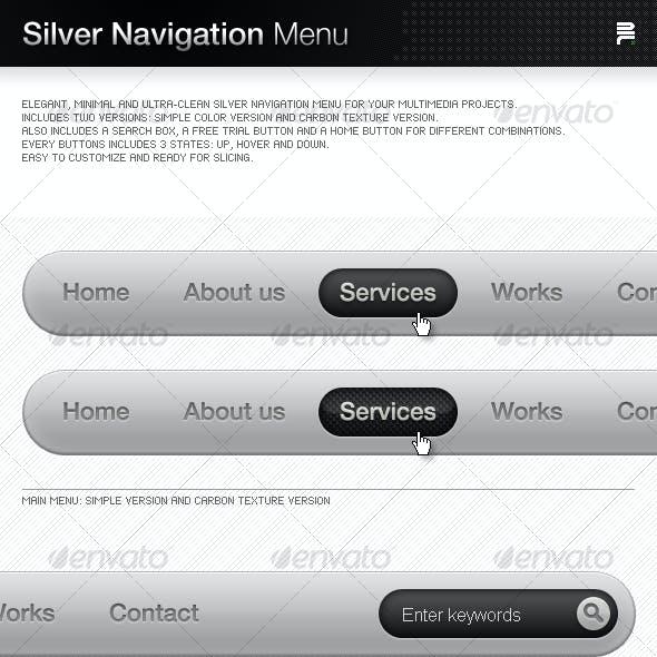 Silver Navigation Menu