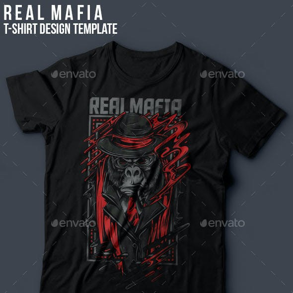 Real Mafia T-Shirt Design