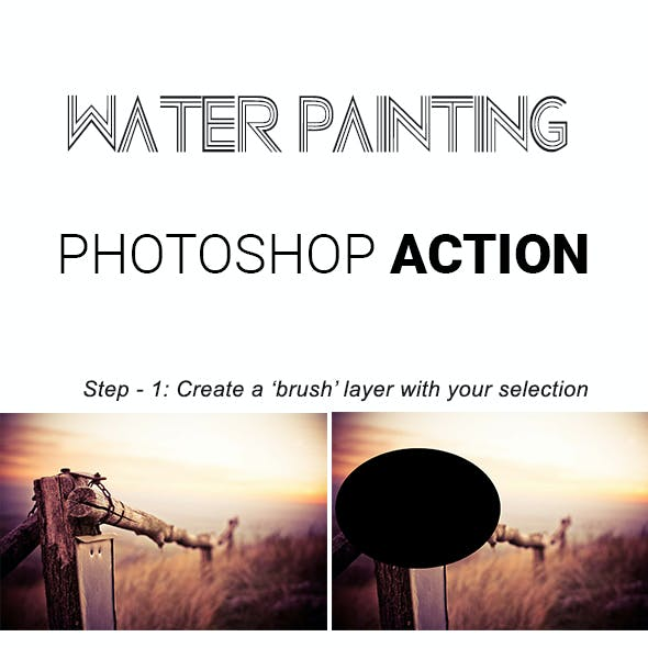 Water Painting Photoshop Action