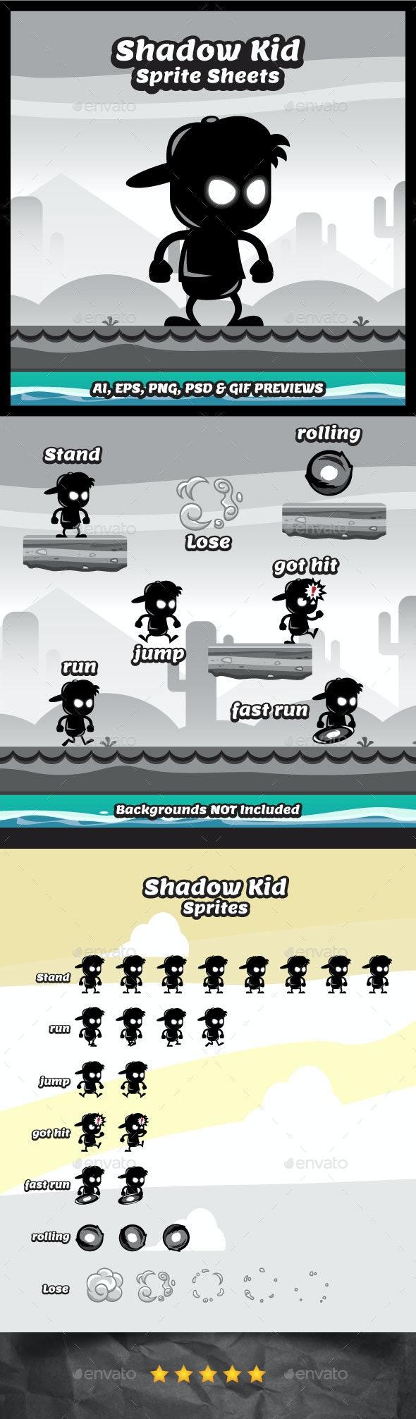 Shadow Kid Game Character