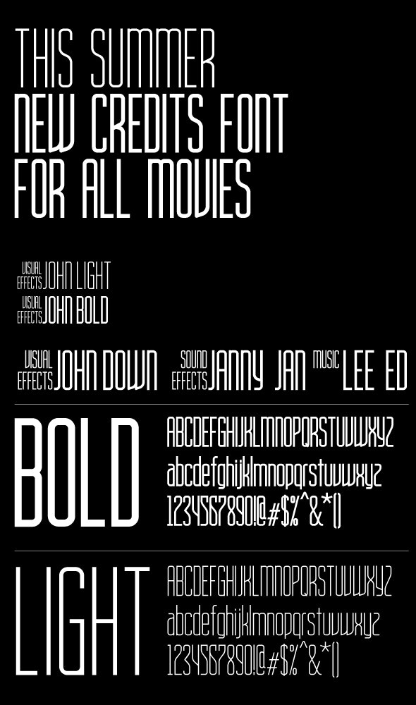 Movie Title AH Condensed bold and light font family - Condensed Sans-Serif