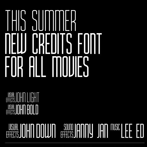 Movie Title AH Condensed bold and light font family