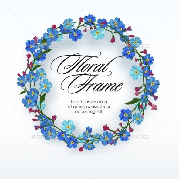 Floral Wreath with Spring Flowers