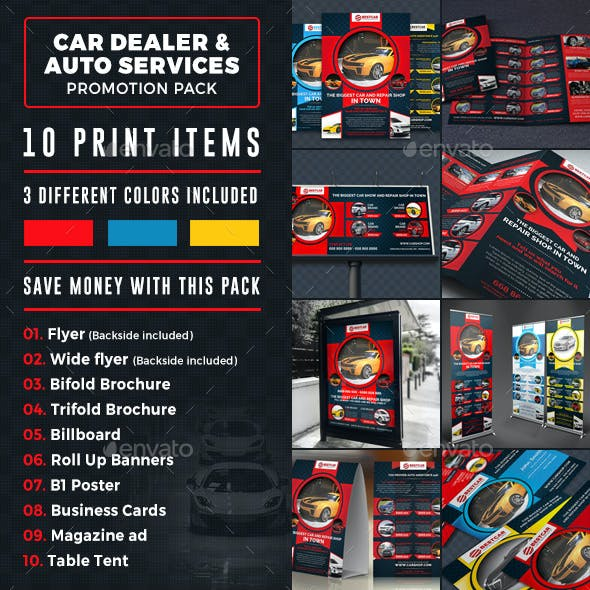 Car Dealer & Auto Services Business Promotion Bundle