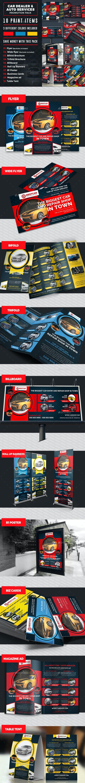 Car Dealer & Auto Services Business Promotion Bundle - Miscellaneous Print Templates
