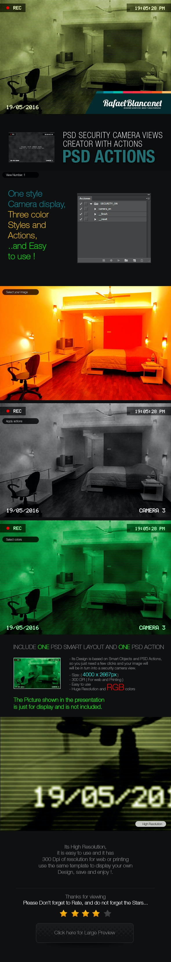 PSD Security Camera Views Creator with Actions V.1.0 - Photo Effects Actions