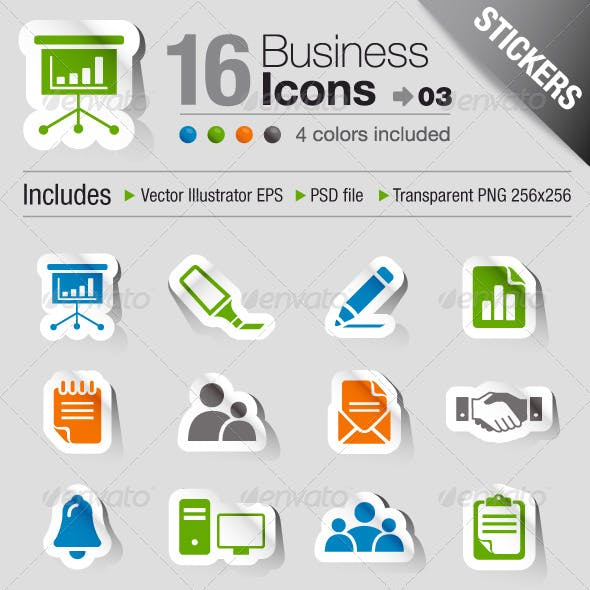 Stickers - Office And Business Icons 03
