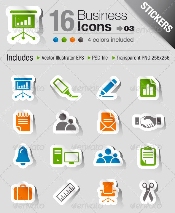 Stickers - Office And Business Icons 03 - Icons