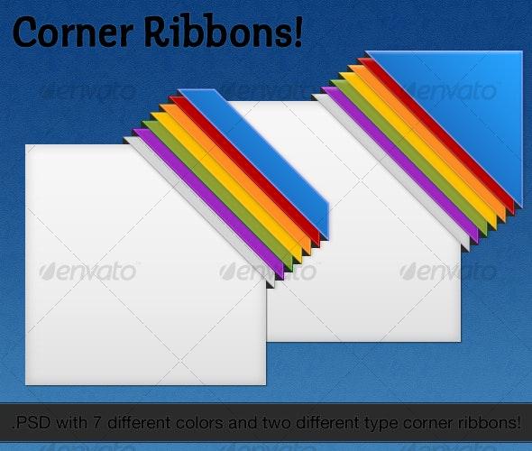 Web Corner Ribbons - Miscellaneous Web Elements
