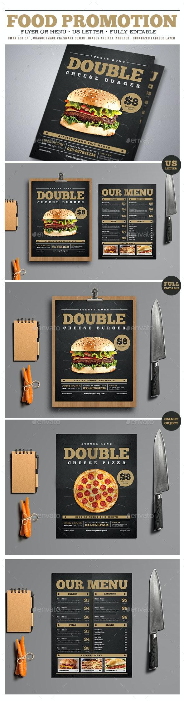 Food Promotion Flyer/Menu - Restaurant Flyers