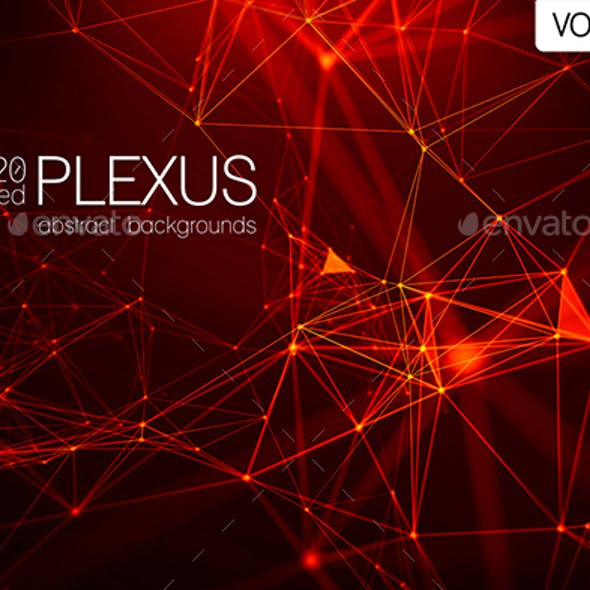 20 Red Abstract Plexus Backgrounds