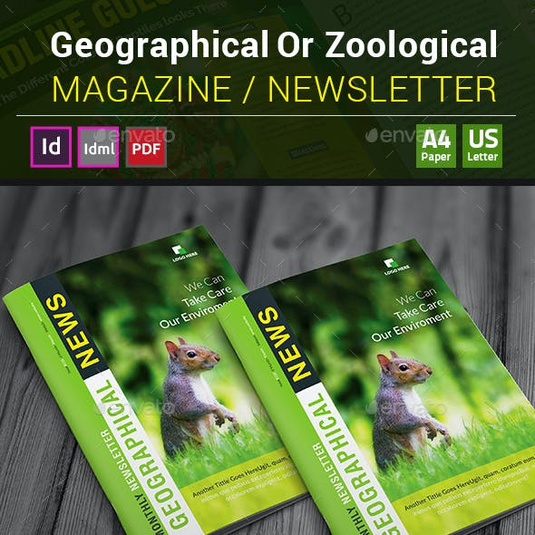 Geographical Or Zoological Magazine / Newsletter