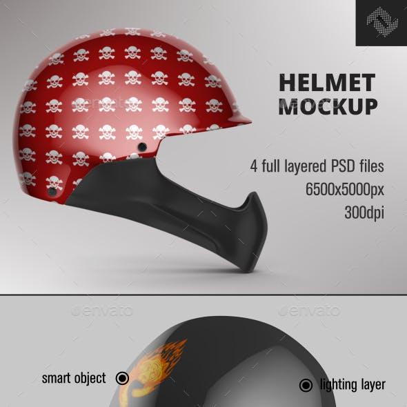 Full Face Helmet Mockup