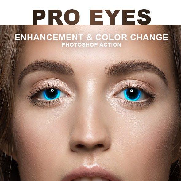 Pro Eyes Enhancement & Color Change - PS Action
