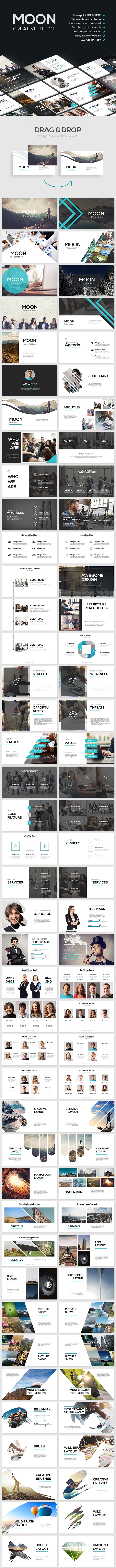 MOON - Creative Theme - PowerPoint Templates Presentation Templates