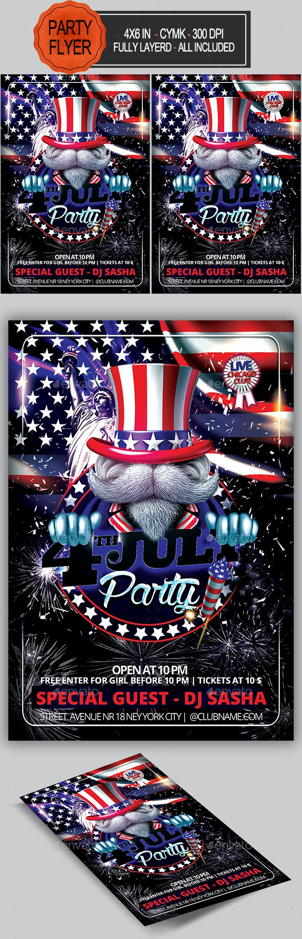 4th July Flyer - Holidays Events