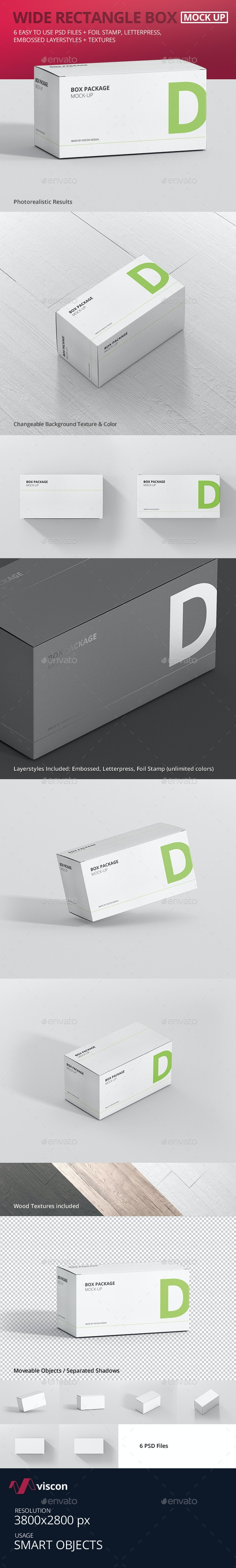 Package Box Mock-Up - Wide Rectangle - Miscellaneous Packaging