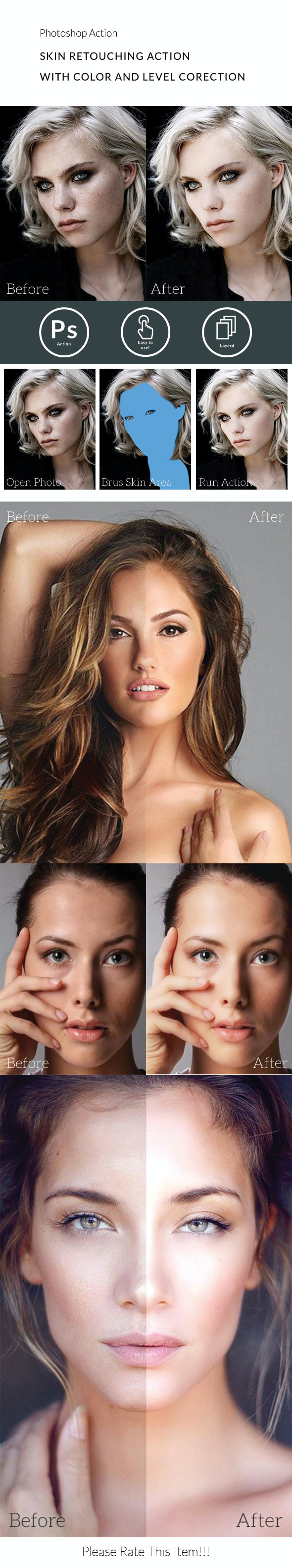 Skin Retouching Action - Actions Photoshop