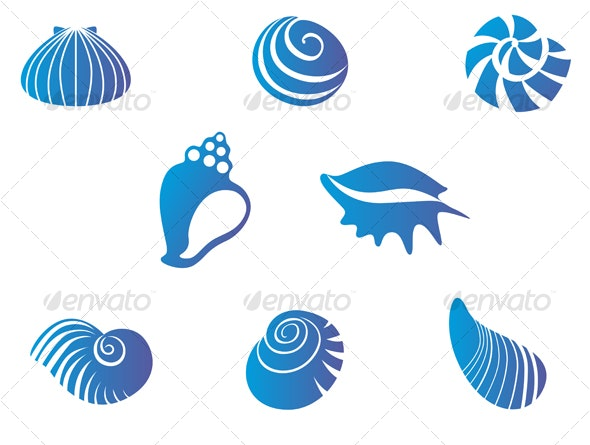 Set of seashells - Animals Characters