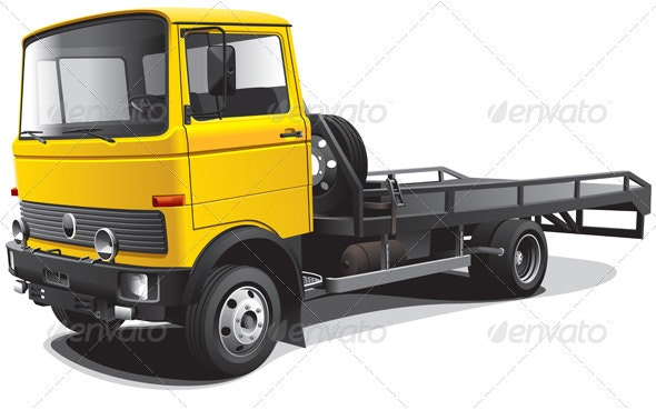 Old-fashioned Tow Truck - Objects Vectors