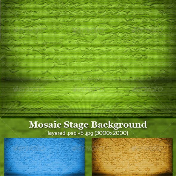 Mosaic Stage Background