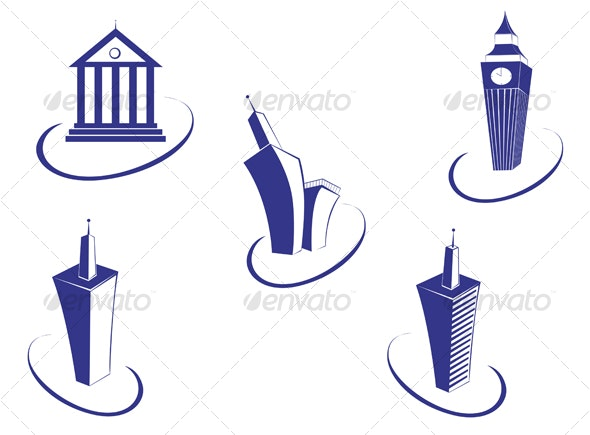 Buildings symbols - Buildings Objects