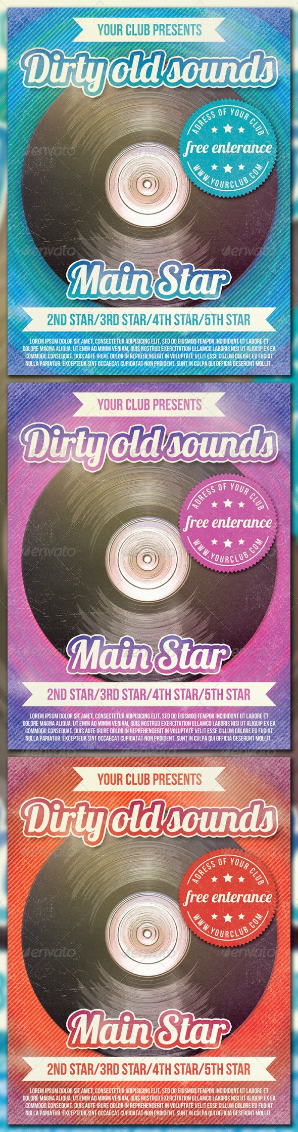 Dirty Old Sounds - Clubs & Parties Events