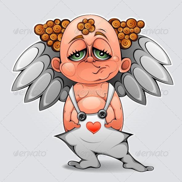 Bored cupid - Characters Vectors