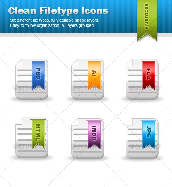 Clean Filetype Document Icons - Web Icons
