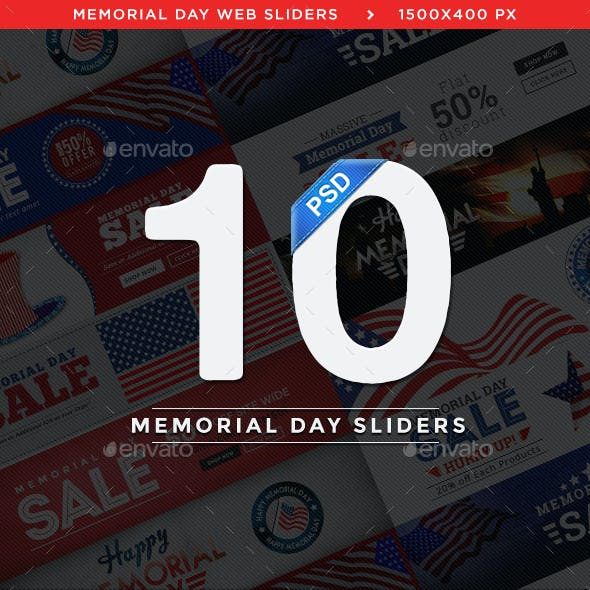 Memorial Day Sliders - 10 Designs - Images Included