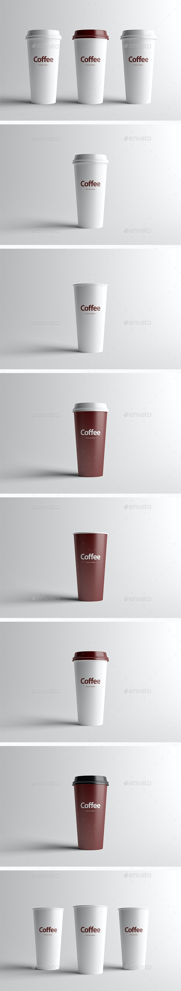 Paper Coffee Cup Packaging Mock-Up - Large - Food and Drink Packaging
