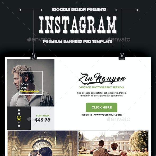 Photography Instagram Banners Ads -35 PSD [Update New Size]