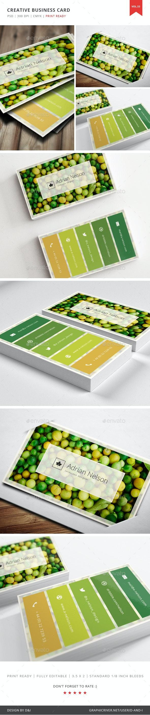 Creative Landscape Designer Business Card - Vol. 53 - Creative Business Cards