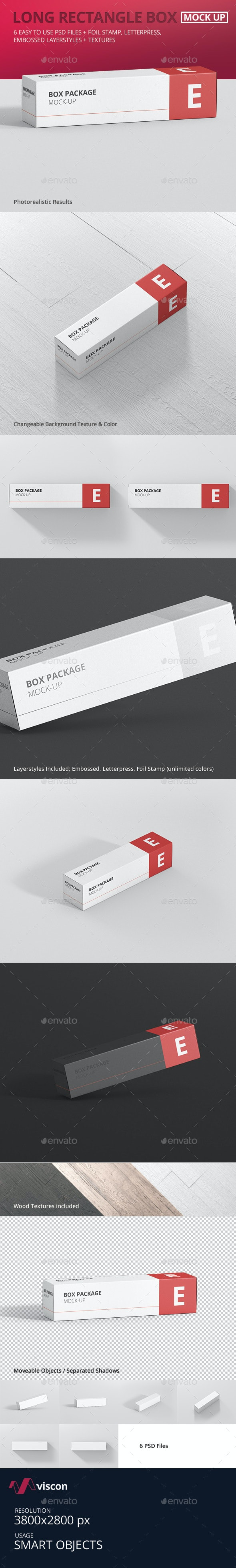 Package Box Mock-Up - Long Rectangle - Miscellaneous Packaging