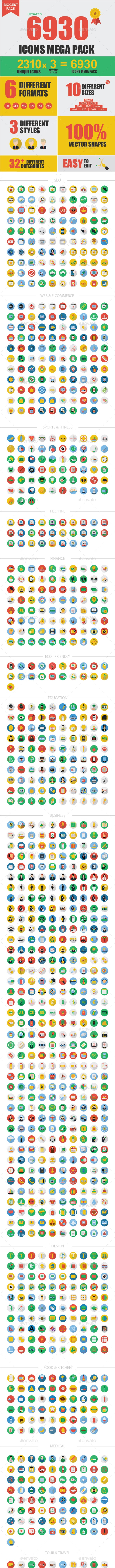 6930 New Vector Icons - Web Icons