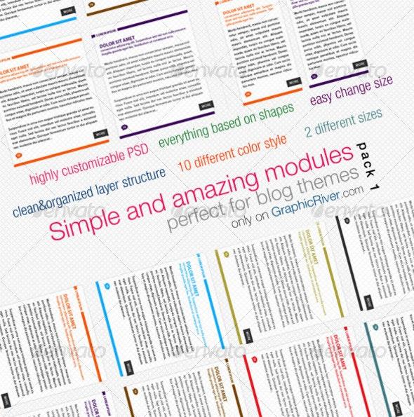 Simple Modules - Decorative Graphics