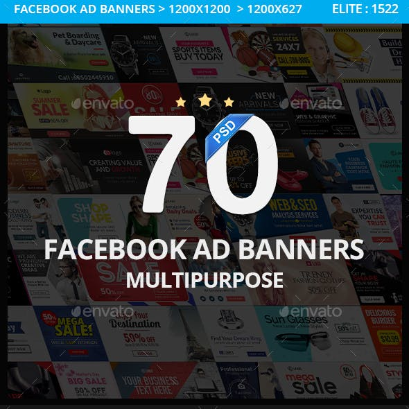 Multipurpose Facebook Ad Banners - 70 Designs