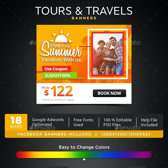 Tours & Travels Banners