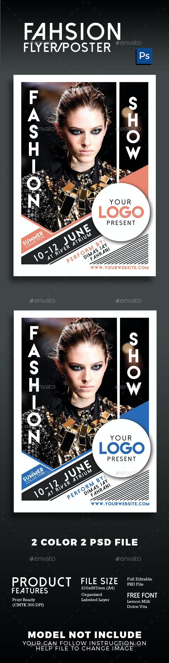Fashion Show Flyer Poster Vol 2 - Flyers Print Templates