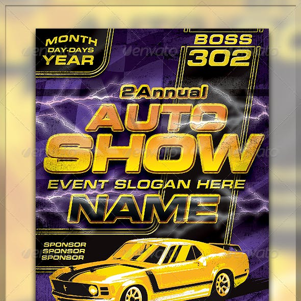 Vintage Boss 302 Flyer Template