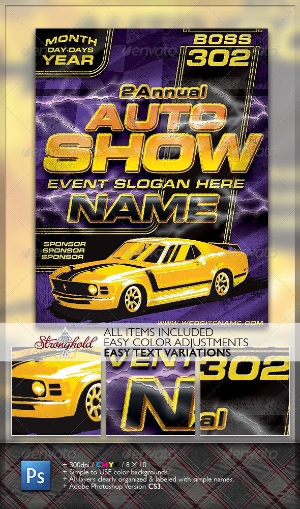 Vintage Boss 302 Flyer Template - Clubs & Parties Events