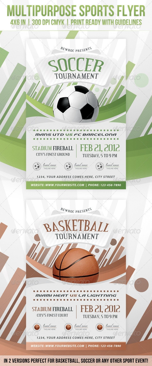Multipurpose Sports Event Flyer - Clubs & Parties Events