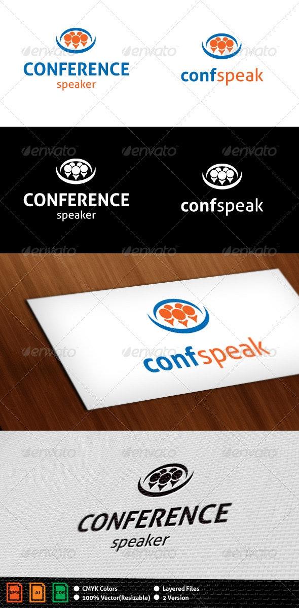 Conference Speaker Logo Template - Humans Logo Templates