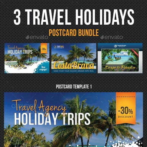 3 Travel Agency Postcard Bundle