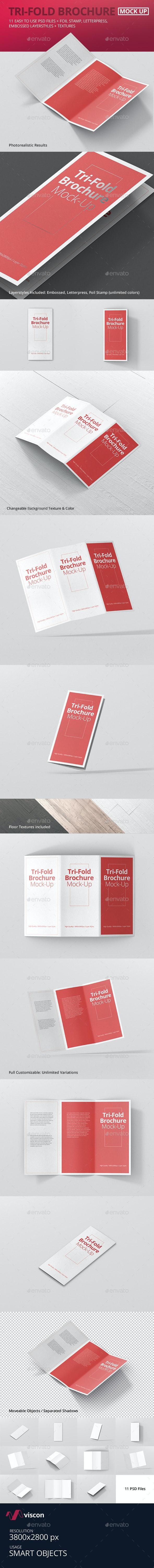 DL Tri-Fold Brochure Mock-Up - Brochures Print