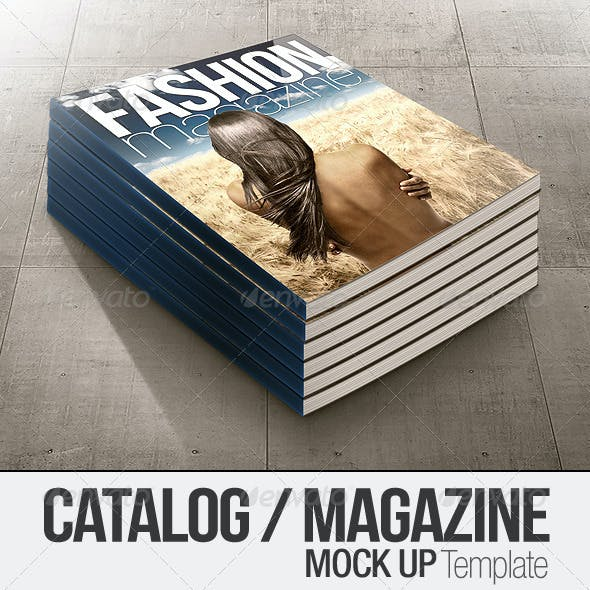 Catalog / Magazine Clean & Realistic Mock-up