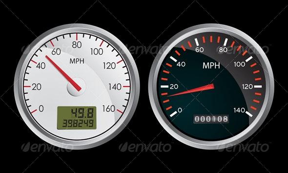 Speedometers - Sports/Activity Conceptual