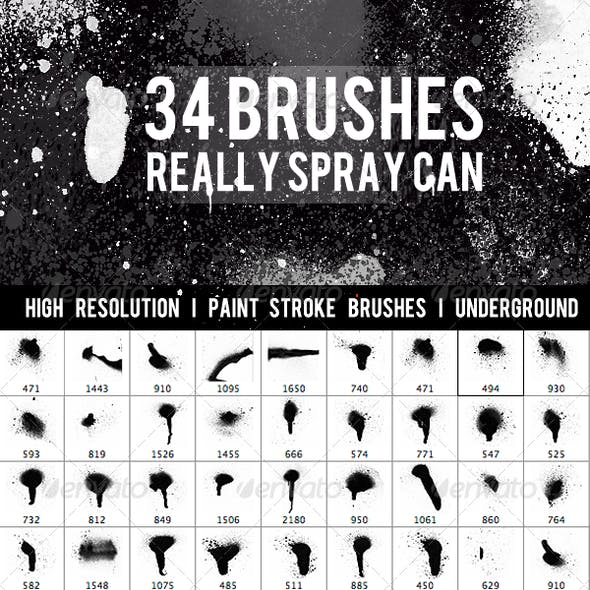 Graffiti collection - 34 Brushes
